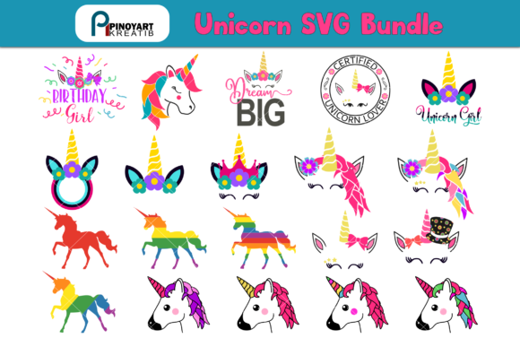 Unicorn Bundle Graphic Crafts By Pinoyartkreatib