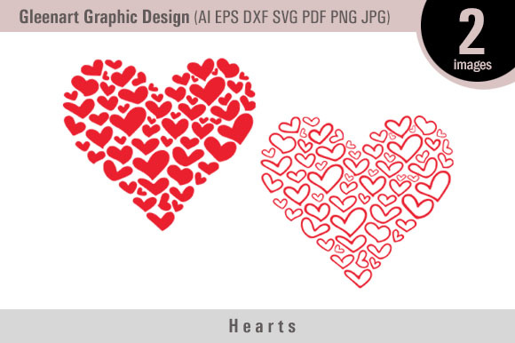 Download Free Valentine Heart Graphic By Gleenart Graphic Design Creative for Cricut Explore, Silhouette and other cutting machines.