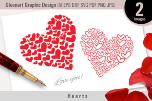 Valentine Heart Graphic By Gleenart Graphic Design