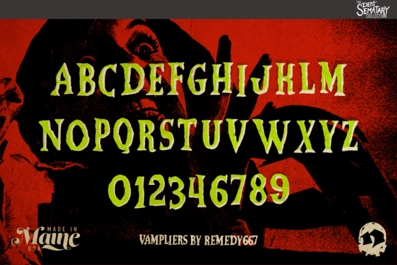 Print on Demand: Vampliers Display Font By remedy667 - Image 2