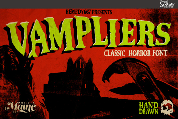 Print on Demand: Vampliers Display Font By remedy667 - Image 1