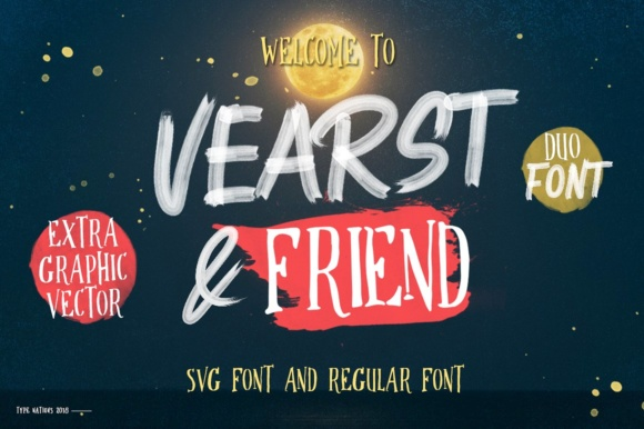 Print on Demand: Vearst & Friend Serif Font By Typenations