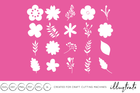 Print on Demand: Vector Flowers Graphic Crafts By illuztrate