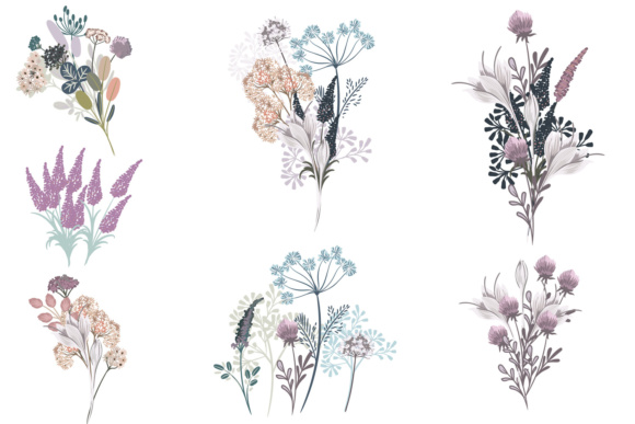 Vector Floral Clipart Collection in Rustic Watercolor Style Vol.2 Graphic Objects By fleurartmariia - Image 2