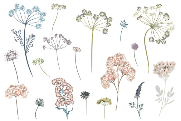 Vector Floral Clipart Collection in Rustic Watercolor Style Vol.2 Graphic Objects By fleurartmariia - Image 3