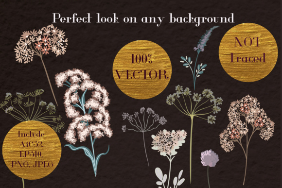 Vector Floral Clipart Collection in Rustic Watercolor Style Vol.2 Graphic Objects By fleurartmariia - Image 4