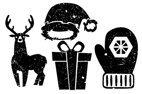 4 Vintage Christmas Elements Svg Cut File By Creative Fabrica Crafts Creative Fabrica