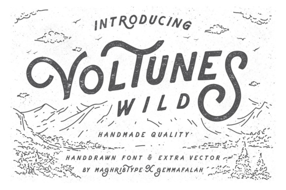 Print on Demand: Voltunes Display Font By maghrib