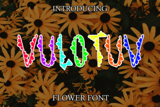Vulotuv Flower Font By Boombage