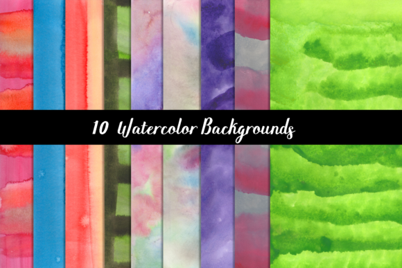 Print on Demand: Watercolor Background Graphic Backgrounds By Design Haul