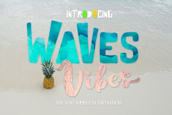 Print on Demand: Waves Vibes Trio Serif Font By Typenations