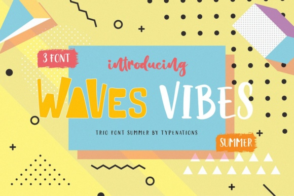 Print on Demand: Waves Vibes Trio Serif Font By Typenations - Image 6