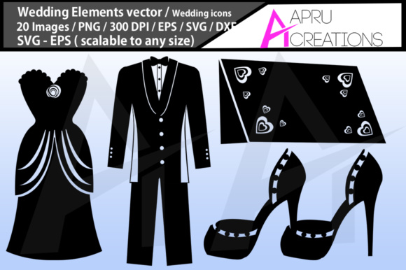 Wedding Silhouette Svg Graphic By aparnastjp Image 2