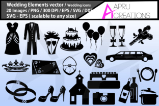 Download Free Wedding Silhouette Graphic By Aparnastjp Creative Fabrica for Cricut Explore, Silhouette and other cutting machines.