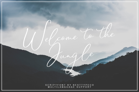 Print on Demand: Welcome to the Jungle Script & Handwritten Font By besttypeco