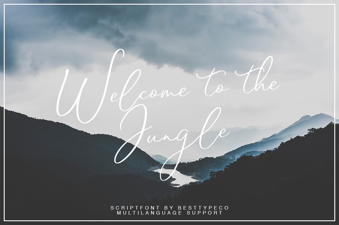 Download Free Welcome To The Jungle Font By Besttypeco Creative Fabrica for Cricut Explore, Silhouette and other cutting machines.