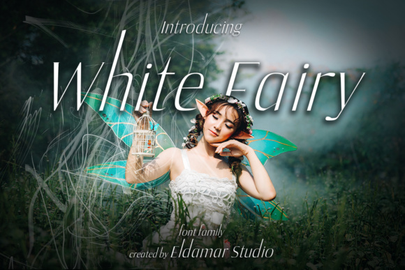 Print on Demand: White Fairy Serif Font By Eldamar Studio Fonts