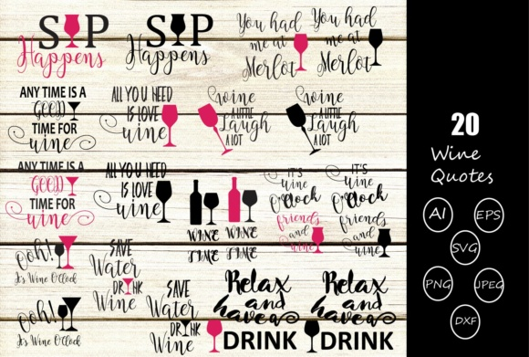 Wine Quotes Graphic Crafts By Design Haul