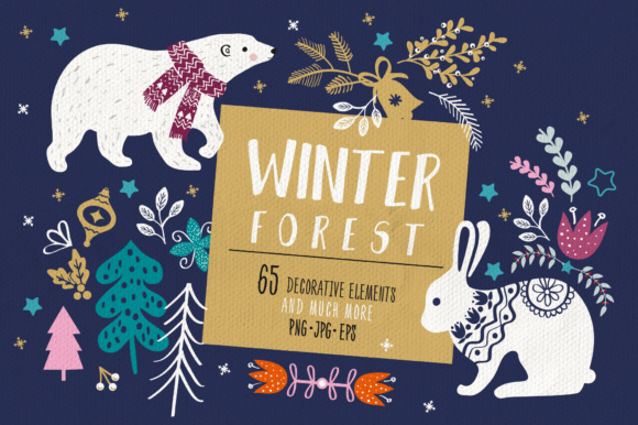 Winter Animals Graphic Illustrations By sto-va