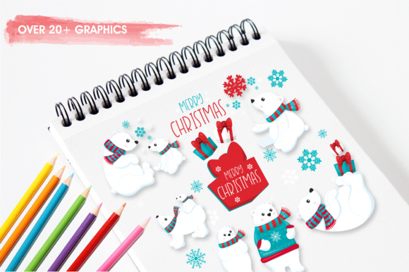 Print on Demand: Winter Polar Bears Graphic Illustrations By Prettygrafik - Image 3