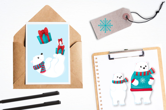 Print on Demand: Winter Polar Bears Graphic Illustrations By Prettygrafik - Image 4