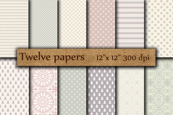 Winter Papers Graphic Backgrounds By twelvepapers