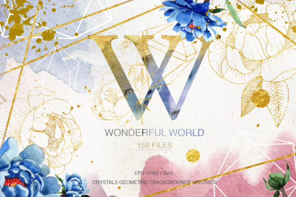 Download Free Wonderful Watercolor And Vector Set Graphic By Mystocks for Cricut Explore, Silhouette and other cutting machines.