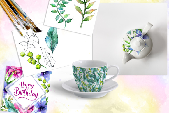 Wonderful Tropical Plant PNG Watercolor Set Graphic By MyStocks Image 2