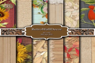 Wood Digital Papers Graphic By retrowalldecor