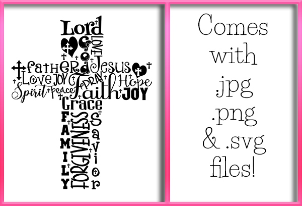 Download Free Word Cross Graphic By Grafix By Kappie Creative Fabrica for Cricut Explore, Silhouette and other cutting machines.