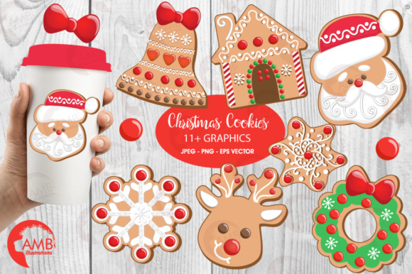 Download Free Xmas Cookies Clipart Graphic By Ambillustrations Creative Fabrica for Cricut Explore, Silhouette and other cutting machines.