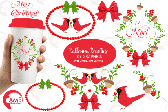 Download Free Xmas Embellishment Clipart Graphic By Ambillustrations for Cricut Explore, Silhouette and other cutting machines.
