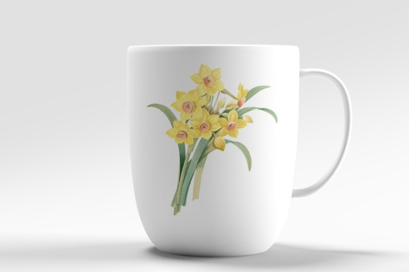 Yellow Daffodil Watercolor Flower Graphic Illustrations By Enliven Designs - Image 5