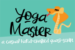Print on Demand: Yoga Master Script & Handwritten Font By Illustration Ink