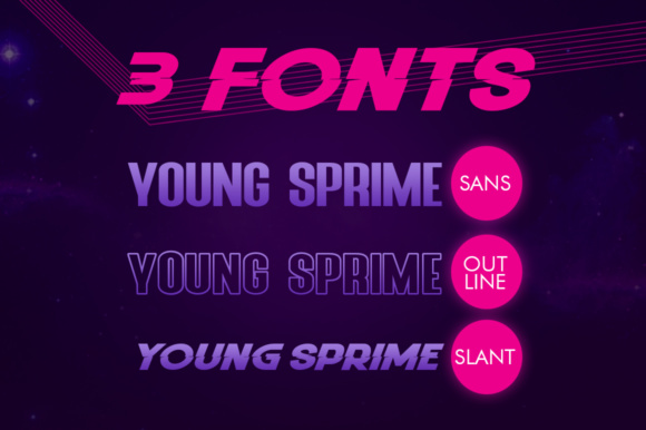 Print on Demand: Young Sprime Sans Serif Font By Khurasan - Image 6