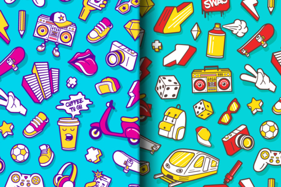 Youth Lifestyle Seamless Patterns Graphic Patterns By Yurlick - Image 3