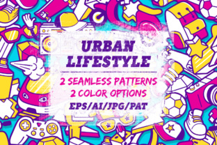 Youth Lifestyle Seamless Patterns Graphic By Yurlick