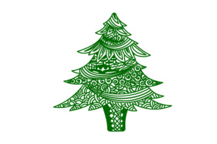 Zentangle Christmas Tree Christmas Craft Cut File By Creative Fabrica Crafts