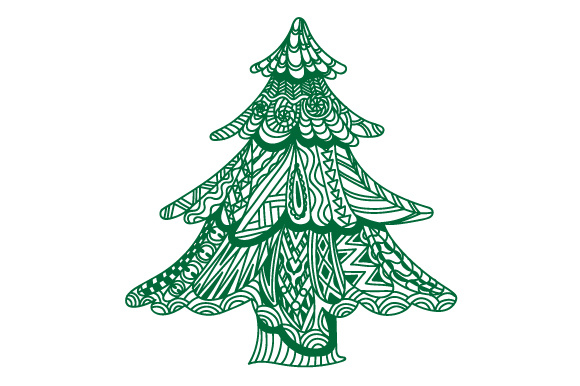Zentangle Christmas Tree Weihnachten Craft Cut File von Creative Fabrica Crafts