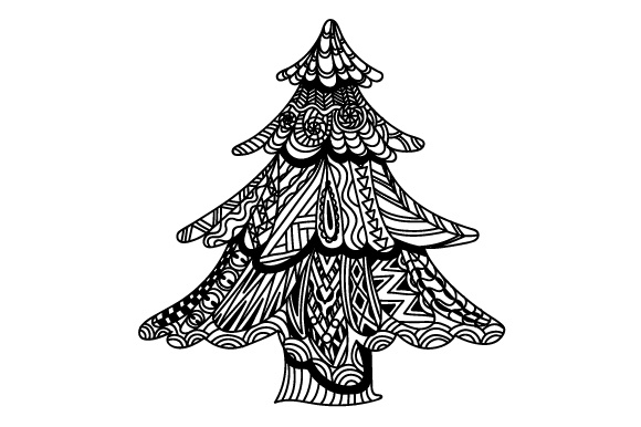 Zentangle Christmas Tree Svg Cut File By Creative Fabrica Crafts