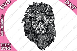 Download Free Zentangle Lion Graphic By Littlekikishop Creative Fabrica for Cricut Explore, Silhouette and other cutting machines.