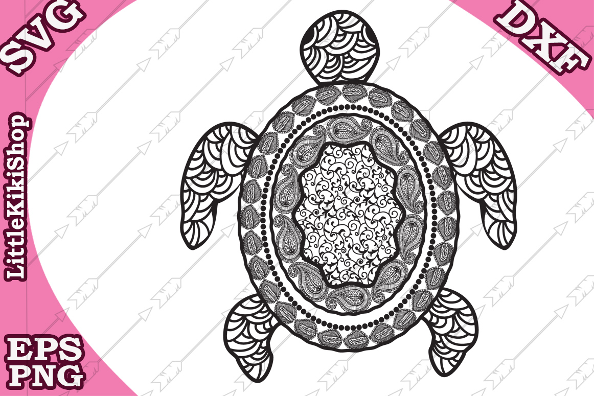 Download Free Zentangle Turtle Graphic By Littlekikishop Creative Fabrica SVG Cut Files