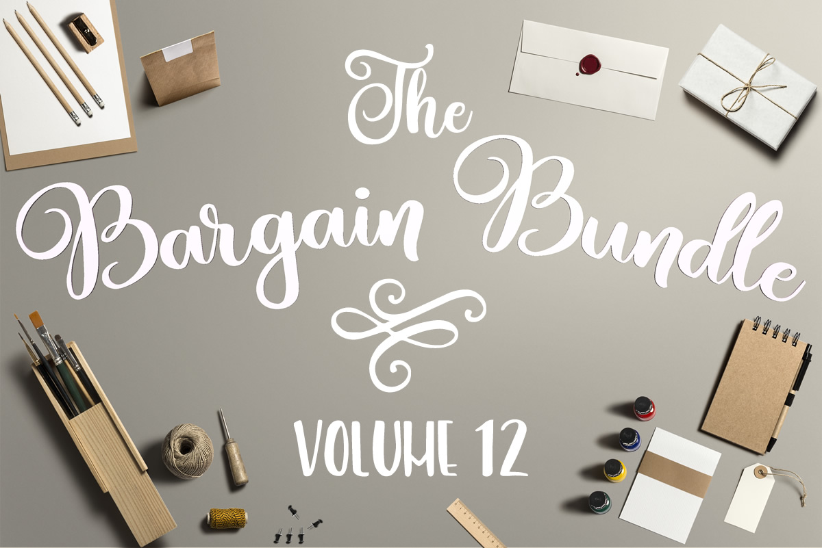 Download Free The Bargain Script Bundle V12 Bundle Creative Fabrica for Cricut Explore, Silhouette and other cutting machines.