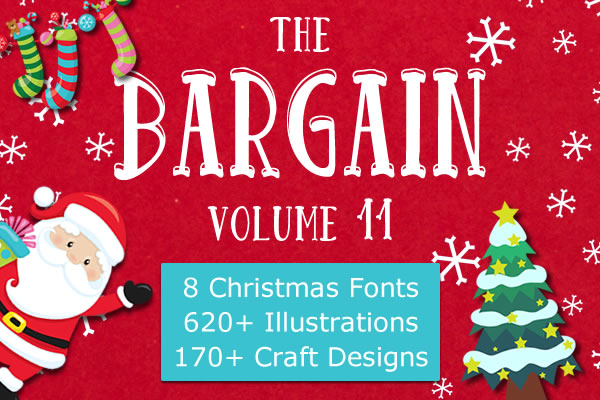 Download Free The Bargain Script Bundle V11 Bundle Creative Fabrica for Cricut Explore, Silhouette and other cutting machines.