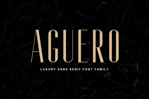 Print on Demand: Aguero Family Sans Serif Font By craftsupplyco