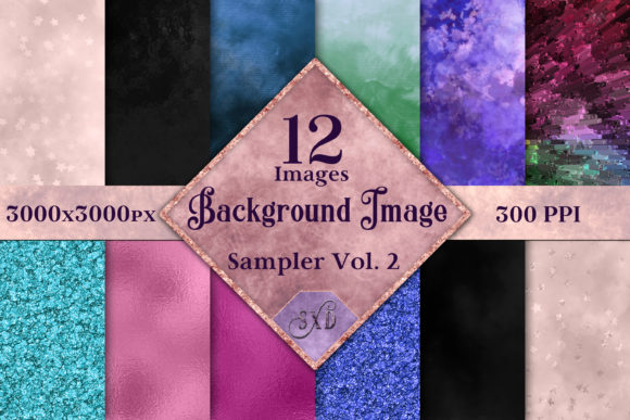 Print on Demand: Background Image Sampler Vol. 2 Graphic Backgrounds By SapphireXDesigns