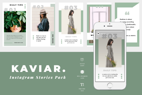 0Kaviar Instagram Stories Graphic Print Templates By TMint
