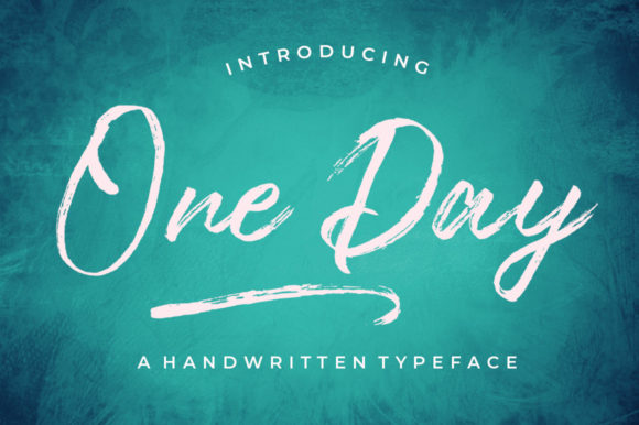 Print on Demand: One Day Script & Handwritten Font By typehill