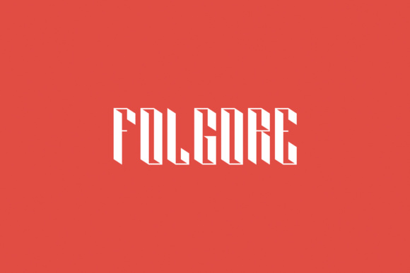 Print on Demand: Folgore Display Font By Creative Fabrica Freebies - Image 1