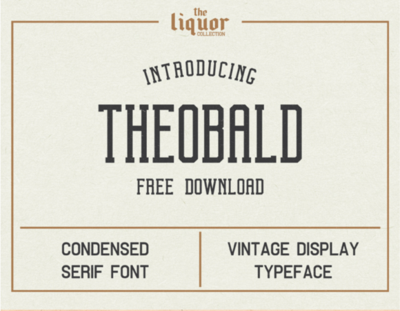 Print on Demand: Theobald Serif Font By Creative Fabrica Freebies
